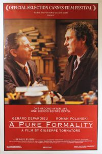 "Poster for the movie ""A Pure Formality"""